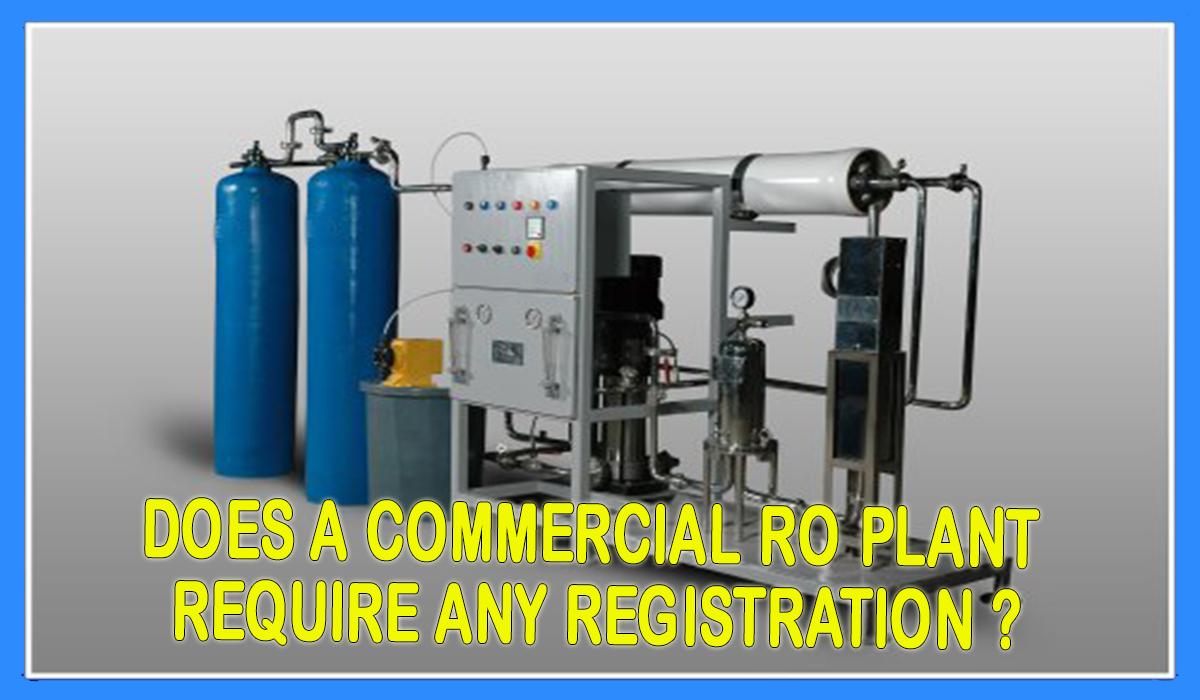 RO Plant registration, ro plant lgane ka registration kaise karen, ro plant registration in india
