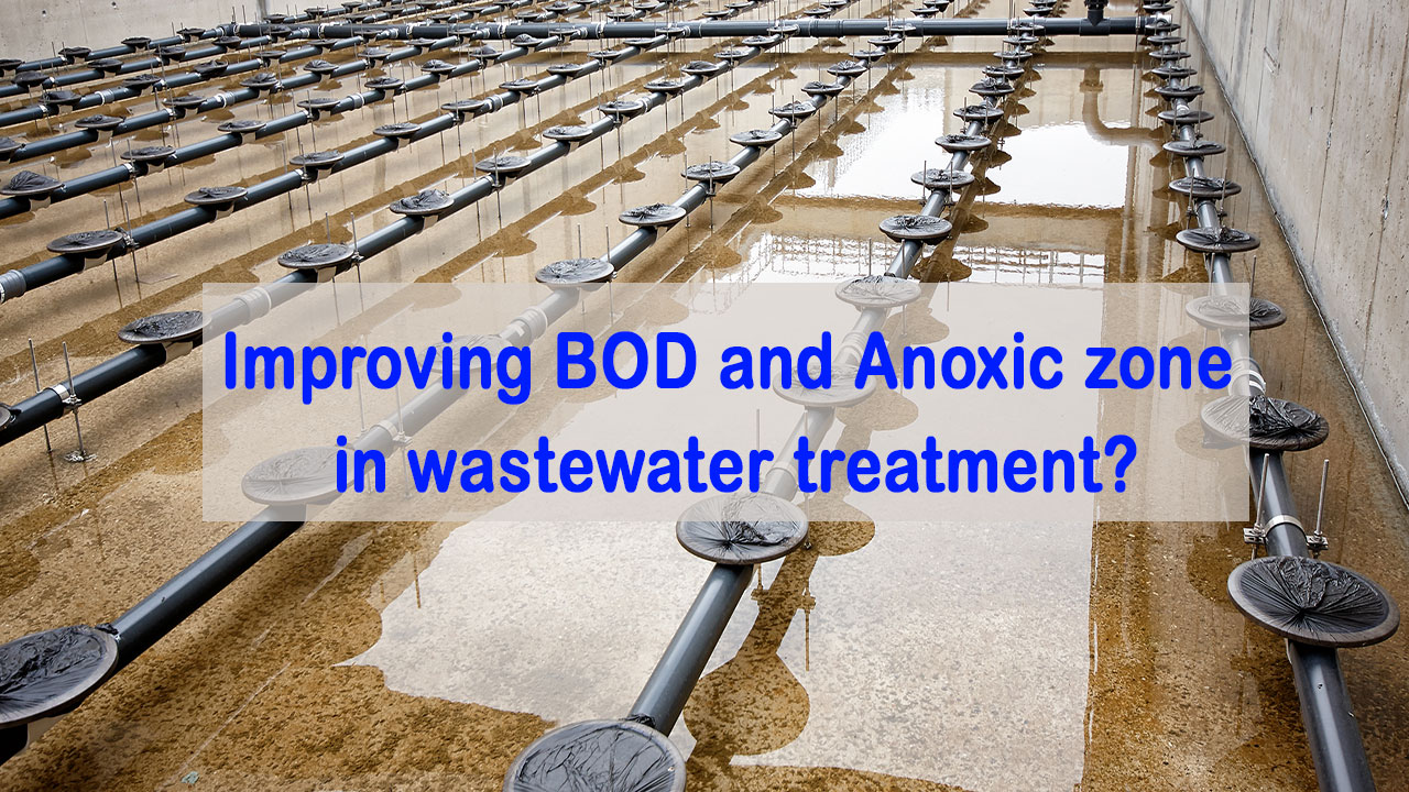 improve BOD and Anoxic zone in wastewater treatment, BOD, Anoxic Zone