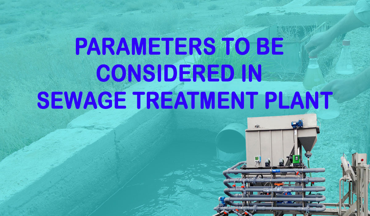 What are the parameters of STP,  What are wastewater parameters, STP Manufacturer