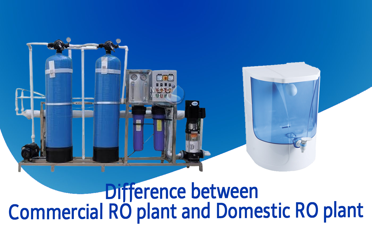 difference between commercial ro and domestic ro, ro plant vs ro purifiers,