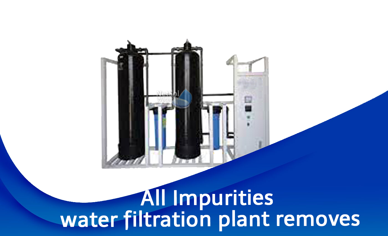 What impurities do water filters remove?, 3 major types of water filter